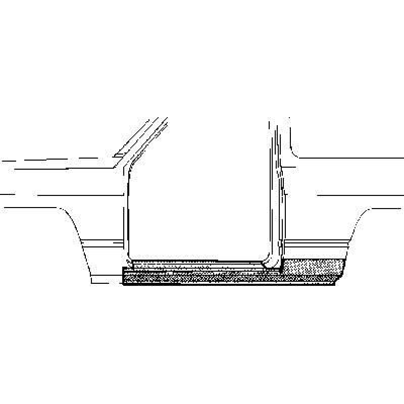 bas de caisse gauche nissan patrol baroud bas de caisse nissan patrol de 1981 1994. Black Bedroom Furniture Sets. Home Design Ideas
