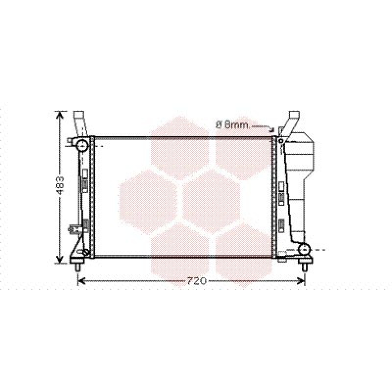 radiateur moteur mercedes classe a w169 radiateur moteur mercedes classe a w169 a150 a170. Black Bedroom Furniture Sets. Home Design Ideas