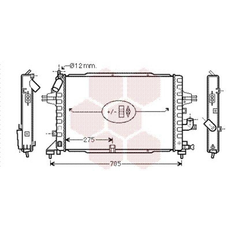 radiateur opel astra h radiateur opel astra h diesel 1 3 cdti 1 7 cdti 1 9 cdti de 2004. Black Bedroom Furniture Sets. Home Design Ideas