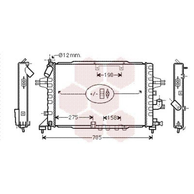 radiateur opel astra h radiateur opel astra h diesel 1 7 cdti de 2004 2010. Black Bedroom Furniture Sets. Home Design Ideas